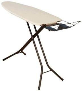 Deluxe Mega Wide Top Ironing Board Space Saving Fold Away Iron Rest
