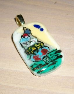 Whoville Xmas Tree Dr Suess Like Fused Glass Pendant Naas Art