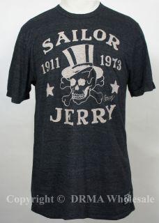 Sailor Jerry Tattoo Top Hat Slim Fit T Shirt s M L XL XXL New
