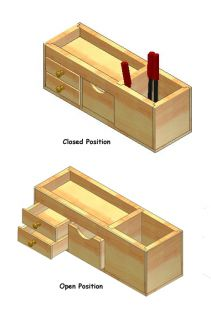 Woodworking Plan Plans Project Desk Organizer Office Accessory