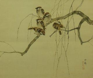 4019KAKEJIKU Japan Ishikawa Chikuson Sparrow