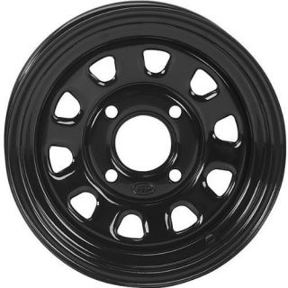 ITP Wheels Second Delta Steel Wheel 12x7 Black ATV Rim D12R511 or