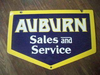 Porcelain on Steel Auburn Sales Service Sign