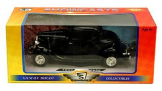 1934 Ford Coupe Hard Top   1:24 Scale Diecast Model   Black   Motormax