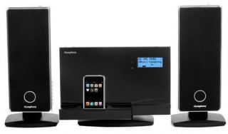 iSymphony Audio System with Wireless Speakers Model W2C Black as Is