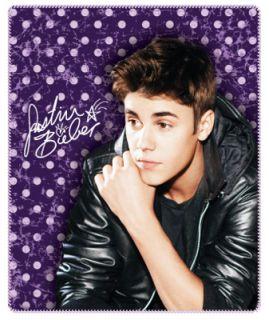 Justin Bieber Vintage Style Fleece Throw Blanket Afghan