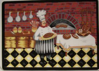 Set of 2 Fat Chef Italian Fresh Bread Bistro Placemats