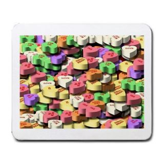 Valentines Day Colored Candy Hearts Mousepad Mouse Mat