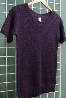 Crew Holiday Heathered Mohair Wool Tunic Sweater Small