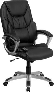 REMOTE MASSAGING BLACK LEATHER HOME OFFICE EXECUTIVE DESK TASK CHAIRS