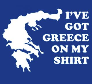 Ive got Greece on My Shirt Funny T Shirt Humor Grease Cool Tee Nerd