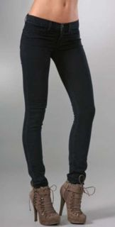 139 New J Brand Jeans 901 Stretch Skinny Legging Jeggings Pitch Black