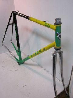 Italian Road Bike Bicycle Lugged Steel Frame Set Italy 55cm