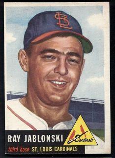 Ray Jablonski St Louis Cardinals 1953 Topps Card 189