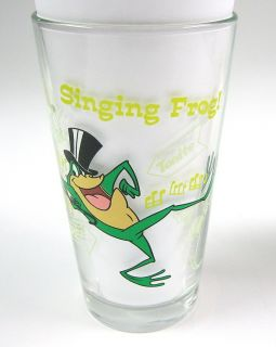 Michigan J Frog Looney Tunes Clear Pint Drinking Glass Toon Tumbler