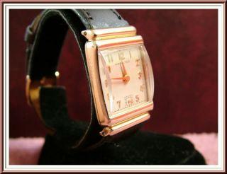 1948 RARE Hamilton Hayden Mens Vintage Gold Watch 14k GF Solid 18K