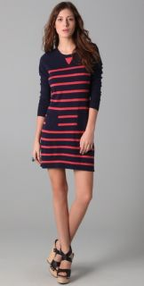Charlotte Ronson Breton Stripe Sweater Dress