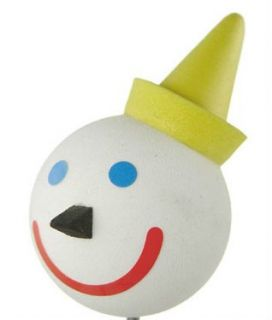 New Jack In The Box Antenna Ball Clown White Ball Yellow Hat Blue Eyes
