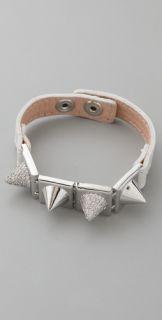 Noir Jewelry Studded Leather Bracelet