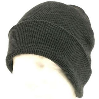 Thinsulate 3M Ribbed Knit Ski Snow Beanie Skull Cap Hat 2ply Gray