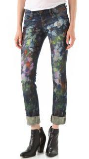 Blank Denim Paint Splatter Straight Leg Jeans