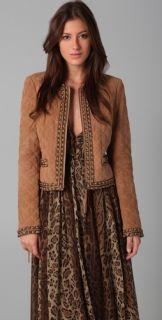 Haute Hippie Quilted Suede Jacket