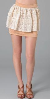 sQ The Label Angel Living Peplum Skirt