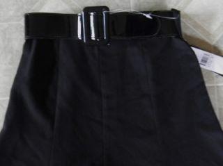 Amy Byer Black A Line Skirt Belt Girls Size 8 $34