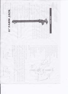 60 High Lift Farm Jack 8800lb 4 Ton Four Ton Lifting 4x4