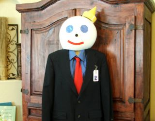 Jack In The Box ADULT Halloween Costume HEAD + Suit Jacket Shirt Tie