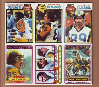 1980 Topps Los Angeles Rams Team Sets Jack Youngblood Dryer