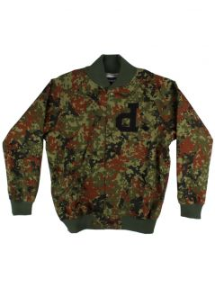 Diamond Supply Co Mens Un Polo Twill Varsity Jacket Camo New