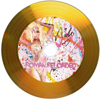 Nicki Minaj Roman Reloaded Signed Gold Disc with Autographs Ideal Gift