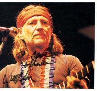 Willie Nelson Authentic Signed Image Original Autographed Country