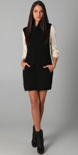 3.1 Phillip Lim Shawl Neck Sweater Dress with Zipper Side Vents