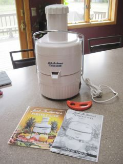 Jack Lalannes Power Juicer Model CL 003AP Complete
