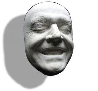 Jack Nicholson Smiling Life Mask The Shining, Batman, Joker, As Good