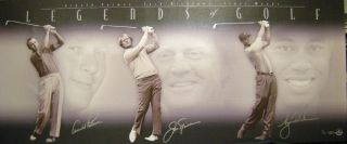 Arnold Palmer Jack Nicklaus Tiger Woods Auto UDA Legends of Golf