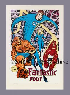Original Jack Kirby Fantastic Four Huge Seriegraph Silkscreen Print