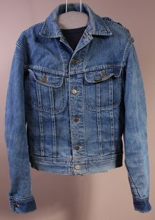 Vtg Lee 101 J Sanforized Union Made USA Jean Jacket 36