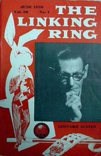 1956 The Linking Ring Magic Magazine Leonard Austen