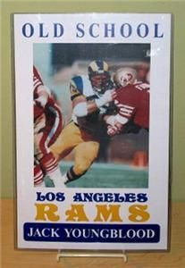 Jack Youngblood Old School Los Angeles Rams Poster