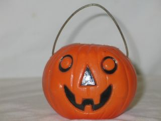 Vintage Tico Rosbro Era Plastic Halloween Jack O Lantern Candy