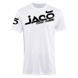 Jaco UFC Overspray White Jiu Jitsu Hybrid Training Shirt Size XL