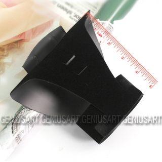 Black Velvet Jewelry Necklace Choker Display Neck Bust Stand 16x15cm