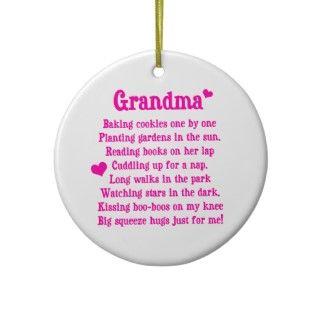 Grandmas Poem Christmas Ornament