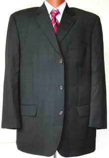 Jack Victor Prossimo Mens Gray Wool 3 Btn Sport Coat Suit Blazer 46R