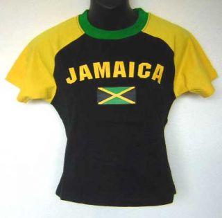 Jamaica Flag Black Yellow Rasta Soccer Jersey T Shirt