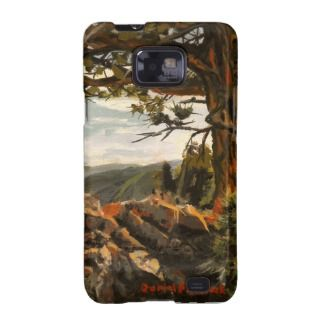 Rocky Mountain View II Oil Landscape Painting Samsung Galaxy Case