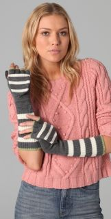 Juicy Couture Williams Rugby Stripe Pop Top Mittens
